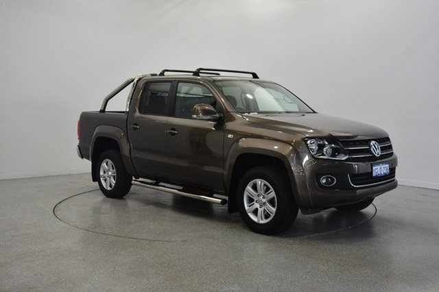 Used Volkswagen Amarok 2H MY14 TDI420 4Motion Perm Highline, 2013 Volkswagen Amarok 2H MY14 TDI420 4Motion Perm Highline Brown 8 Speed Automatic Utility
