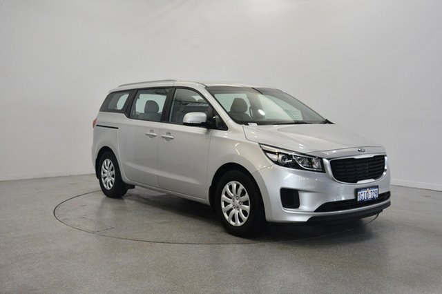 Used Kia Carnival YP MY18 S, 2017 Kia Carnival YP MY18 S Silky Silver 6 Speed Sports Automatic Wagon