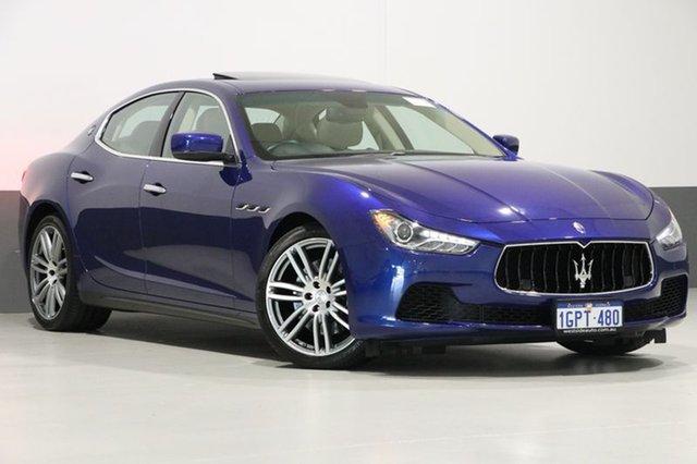 Used Maserati Ghibli M157 S, 2015 Maserati Ghibli M157 S Blue 8 Speed Automatic Sedan