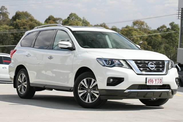 Demo Nissan Pathfinder R52 Series II MY17 ST-L X-tronic 2WD, 2017 Nissan Pathfinder R52 Series II MY17 ST-L X-tronic 2WD Shiro White 1 Speed Constant Variable