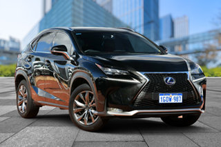 2014 Lexus NX AYZ15R NX300h E-CVT AWD F Sport Black 6 Speed Constant Variable Wagon Hybrid.