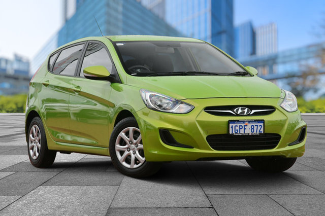 Used Hyundai Accent RB2 MY15 Active, 2014 Hyundai Accent RB2 MY15 Active Green 4 Speed Sports Automatic Hatchback