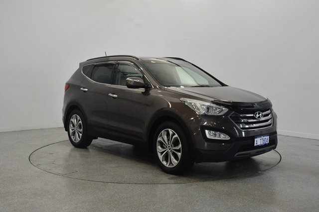 Used Hyundai Santa Fe DM MY14 Highlander, 2014 Hyundai Santa Fe DM MY14 Highlander Bronze 6 Speed Sports Automatic Wagon