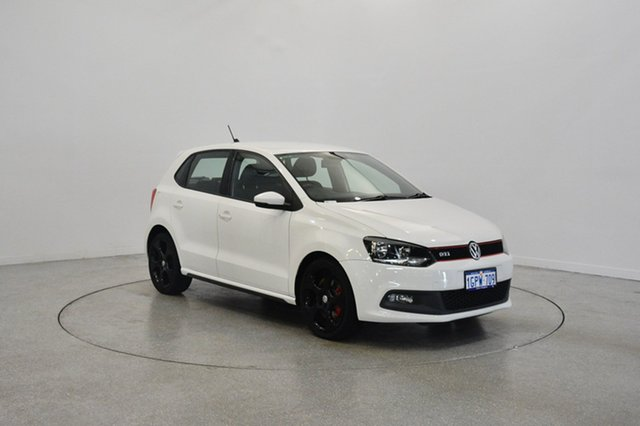 Used Volkswagen Polo 6R MY13.5 GTI DSG, 2013 Volkswagen Polo 6R MY13.5 GTI DSG White 7 Speed Sports Automatic Dual Clutch Hatchback