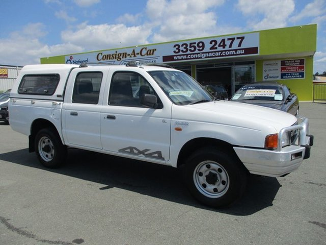 Used Ford Courier PD XL Crew Cab, 1999 Ford Courier PD XL Crew Cab White 5 Speed Manual Utility