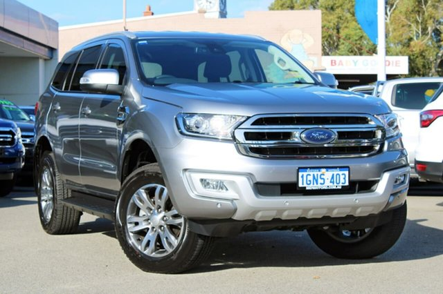 Demo Ford Everest UA MY18 Trend 4WD, 2018 Ford Everest UA MY18 Trend 4WD Silver 6 Speed Sports Automatic Wagon