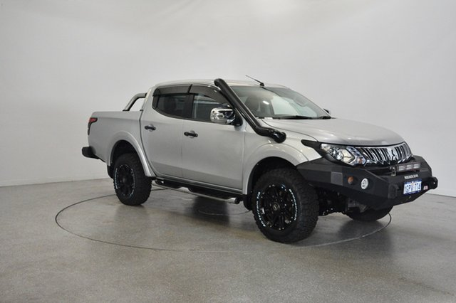 Used Mitsubishi Triton MQ MY16 GLS Double Cab, 2016 Mitsubishi Triton MQ MY16 GLS Double Cab Silver 6 Speed Manual Utility