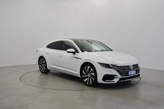 Used Volkswagen Arteon 3H MY18 206TSI Coupe DSG 4MOTION R-Line, 2018 Volkswagen Arteon 3H MY18 206TSI Coupe DSG 4MOTION R-Line Pure White 7 Speed