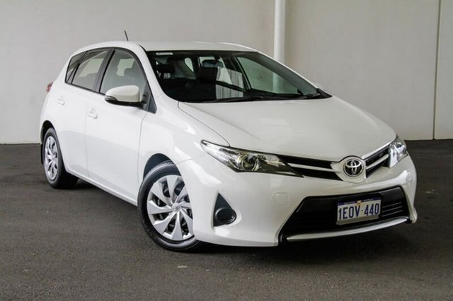 Used Toyota Corolla ZRE182R Ascent S-CVT, 2014 Toyota Corolla ZRE182R Ascent S-CVT Glacier White 7 Speed Constant Variable Hatchback