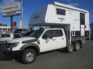 2010 PK SLIDE ON CAMPER Ford Ranger White Motor Camper.