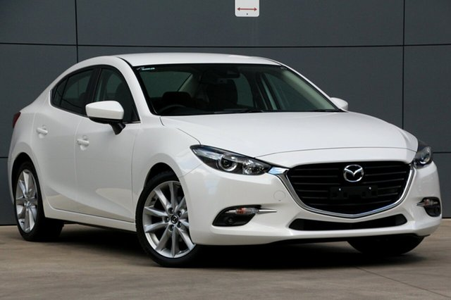 Used Mazda 3 BN5238 SP25 SKYACTIV-Drive, 2018 Mazda 3 BN5238 SP25 SKYACTIV-Drive Snowflake White 6 Speed Sports Automatic Sedan