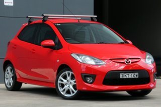 2009 Mazda 2 DE10Y1 Genki True Red 4 Speed Automatic Hatchback.
