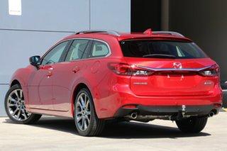 2017 Mazda 6 GL1031 GT SKYACTIV-Drive Soul Red 6 Speed Sports Automatic Wagon.