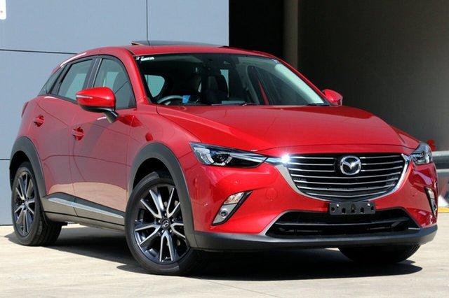 Used Mazda CX-3 DK4W7A Akari SKYACTIV-Drive i-ACTIV AWD, 2018 Mazda CX-3 DK4W7A Akari SKYACTIV-Drive i-ACTIV AWD Soul Red 6 Speed Sports Automatic Wagon