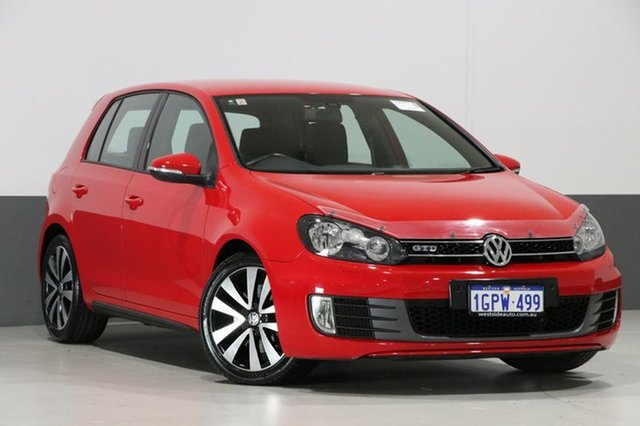 Used Volkswagen Golf 1K MY11 GTD, 2010 Volkswagen Golf 1K MY11 GTD Red 6 Speed Direct Shift Hatchback