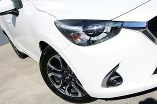 2018 Mazda 2 DJ2HAA Genki SKYACTIV-Drive Snowflake White 6 Speed Sports Automatic Hatchback.