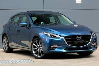 2018 Mazda 3 BN5438 SP25 SKYACTIV-Drive Astina Eternal Blue 6 Speed Sports Automatic Hatchback.