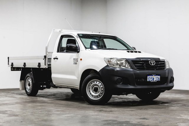 Used Toyota Hilux KUN16R MY12 Workmate 4x2, 2011 Toyota Hilux KUN16R MY12 Workmate 4x2 White 5 Speed Manual Cab Chassis