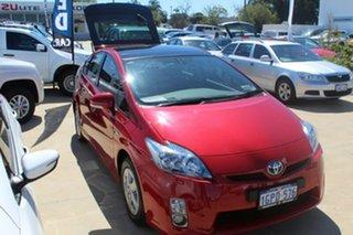 2009 Toyota Prius ZVW30R I-Tech Red/Black 1 Speed Constant Variable Liftback Hybrid.