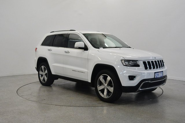Used Jeep Grand Cherokee WK MY2014 Limited, 2013 Jeep Grand Cherokee WK MY2014 Limited Bright White 8 Speed Sports Automatic Wagon