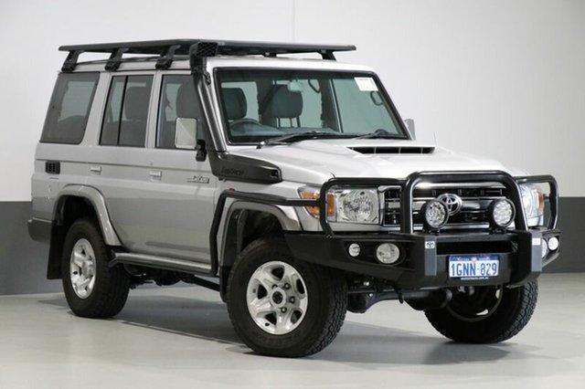 Used Toyota Landcruiser VDJ76R MY18 GXL (4x4), 2017 Toyota Landcruiser VDJ76R MY18 GXL (4x4) Silver 5 Speed Manual Wagon