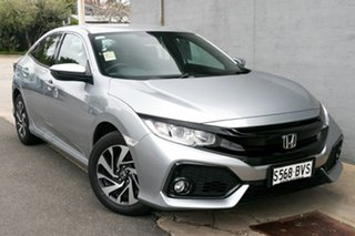2017 Honda Civic 10th Gen MY17 VTi-S Lunar Silver 1 Speed Constant Variable Hatchback.