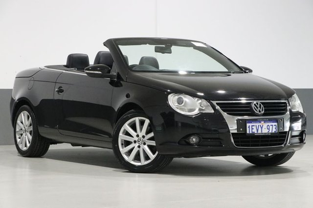 Used Volkswagen EOS 1F MY08 Upgrade 2.0T FSI, 2008 Volkswagen EOS 1F MY08 Upgrade 2.0T FSI Black 6 Speed Direct Shift Convertible