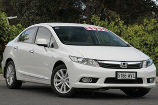 2012 Honda Civic 9th Gen Ser II VTi-LN Taffeta White 5 Speed Sports Automatic Sedan.