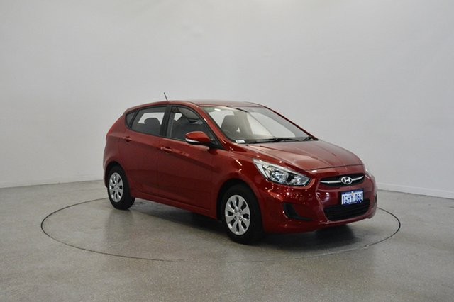 Used Hyundai Accent RB4 MY17 Active, 2017 Hyundai Accent RB4 MY17 Active Pulse Red 6 Speed Constant Variable Hatchback