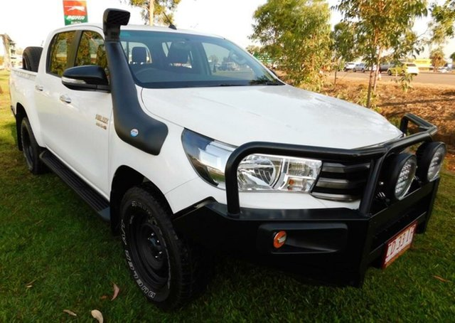 Used Toyota Hilux GUN126R SR Double Cab, 2015 Toyota Hilux GUN126R SR Double Cab White 6 Speed Sports Automatic Utility