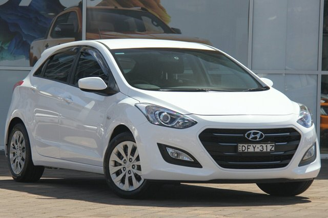 Used Hyundai i30 GD4 Series II MY17 Active, 2016 Hyundai i30 GD4 Series II MY17 Active Polar White 6 Speed Sports Automatic Hatchback