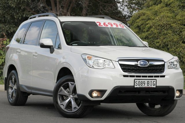 Used Subaru Forester S4 MY15 2.5i-L CVT AWD Special Edition, 2015 Subaru Forester S4 MY15 2.5i-L CVT AWD Special Edition Crystal White Pearl 6 Speed