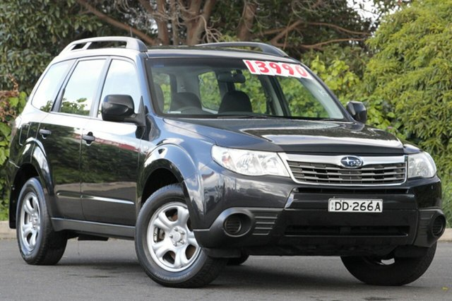Used Subaru Forester S3 MY09 X AWD, 2008 Subaru Forester S3 MY09 X AWD Obsidian Black 4 Speed Sports Automatic Wagon