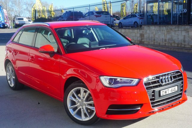 Used Audi A3 8V Attraction Sportback S tronic, 2013 Audi A3 8V Attraction Sportback S tronic Red 7 Speed Sports Automatic Dual Clutch Hatchback