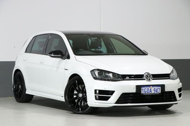 Used Volkswagen Golf AU MY16 R Wolfsburg Edition, 2015 Volkswagen Golf AU MY16 R Wolfsburg Edition White 6 Speed Direct Shift Hatchback