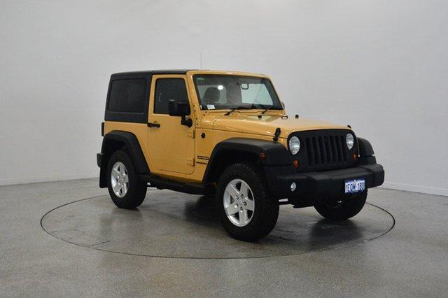 Used Jeep Wrangler JK MY2014 Sport, 2013 Jeep Wrangler JK MY2014 Sport Yellow 6 Speed Manual Softtop