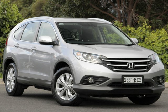 Used Honda CR-V RM MY15 VTi-S 4WD, 2014 Honda CR-V RM MY15 VTi-S 4WD Alabaster Silver 5 Speed Sports Automatic Wagon