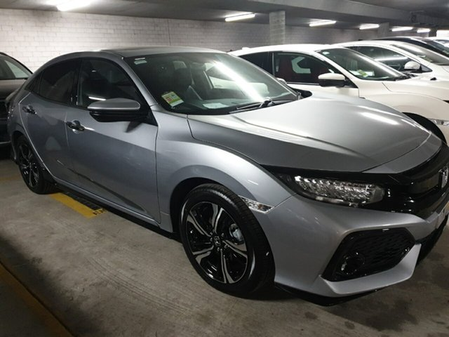Demo Honda Civic 10th Gen MY18 RS, 2018 Honda Civic 10th Gen MY18 RS Lunar Silver 1 Speed Constant Variable Hatchback