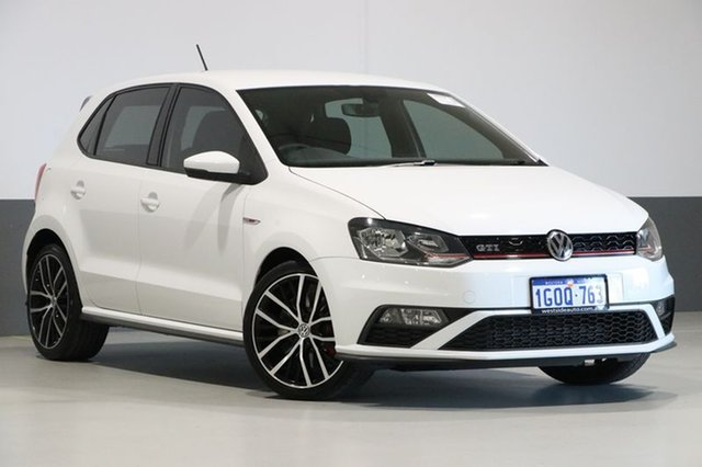 Used Volkswagen Polo 6R MY15 GTi, 2015 Volkswagen Polo 6R MY15 GTi White 7 Speed Auto Direct Shift Hatchback