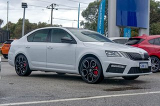 2018 Skoda Octavia NE MY18.5 RS Sedan DSG 245 Moon White 7 Speed Sports Automatic Dual Clutch.