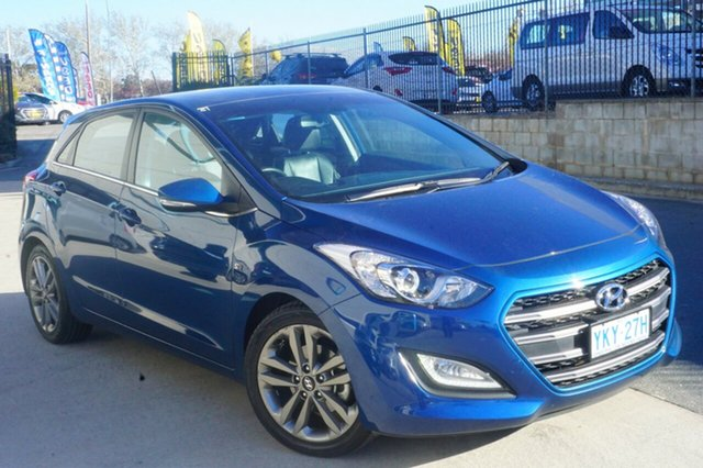 Used Hyundai i30  SR Premium, 2015 Hyundai i30 GD3 Series II M SR Premium Blue 6 Speed Manual Hatchback