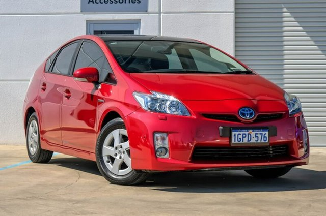 Used Toyota Prius ZVW30R I-Tech, 2009 Toyota Prius ZVW30R I-Tech Red/Black 1 Speed Constant Variable Liftback Hybrid