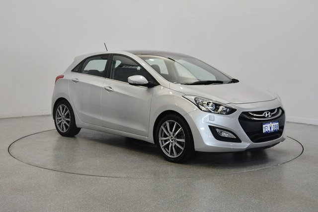 Used Hyundai i30 GD Premium, 2013 Hyundai i30 GD Premium Sleek Silver 6 Speed Sports Automatic Hatchback