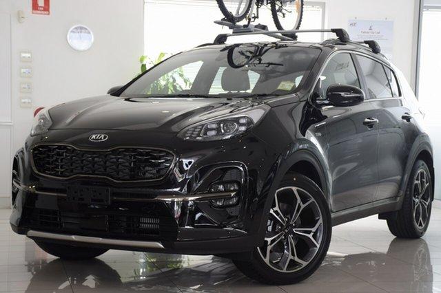 Demo Kia Sportage QL MY18 GT-Line AWD, 2018 Kia Sportage QL MY18 GT-Line AWD Cherry Black 6 Speed Sports Automatic SUV
