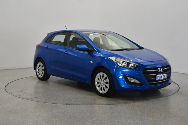 Used Hyundai i30 GD4 Series II MY17 Active, 2017 Hyundai i30 GD4 Series II MY17 Active Marina Blue 6 Speed Sports Automatic Hatchback