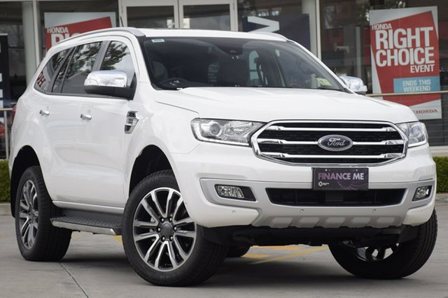 Demo Ford Everest UA II 2019.00MY Titanium 4WD, 2018 Ford Everest UA II 2019.00MY Titanium 4WD Arctic White 10 Speed Sports Automatic SUV