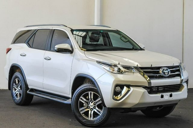 Used Toyota Fortuner GUN156R GXL, 2017 Toyota Fortuner GUN156R GXL Crystal Pearl 6 Speed Automatic Wagon