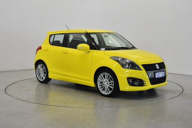 Used Suzuki Swift FZ MY15 Sport, 2016 Suzuki Swift FZ MY15 Sport Yellow 7 Speed Constant Variable Hatchback