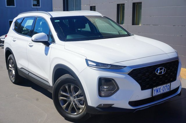Demo Hyundai Santa Fe TM MY19 Active, 2018 Hyundai Santa Fe TM MY19 Active White Cream 8 Speed Sports Automatic Wagon