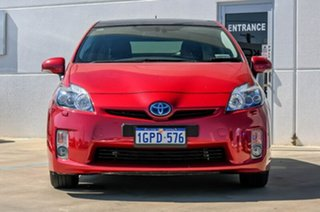 2009 Toyota Prius ZVW30R I-Tech Red/Black 1 Speed Constant Variable Liftback Hybrid